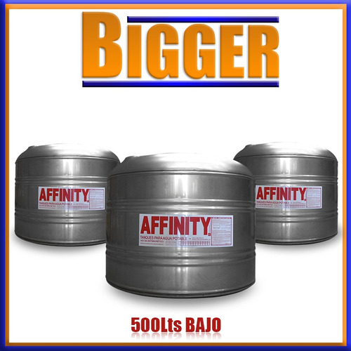 tanque de agua acero inoxidable affinity home  500lts bajo