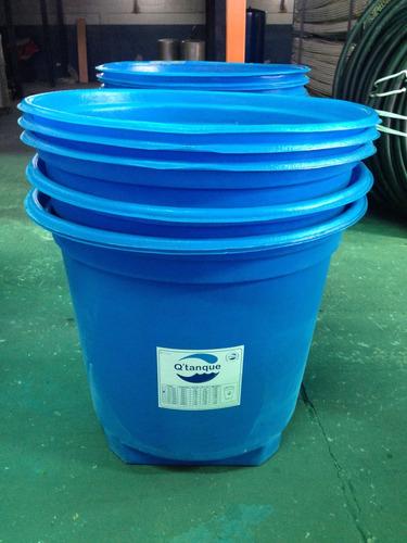 tanque de agua azul de 500 litros con tapa