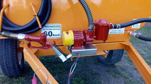 tanque de combustible lecar de 1500 lts, con bomba electrica