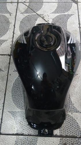 tanque de combustível honda cg 150 preto 2013 flex  pintado
