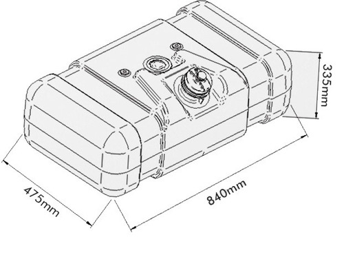 tanque de combustível plástico f4000 80 l bepo