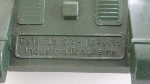 tanque de guerra estrela plástico duro déc.1960 fricção raro