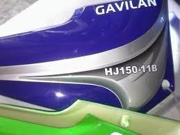 tanque de moto md haojin gavilan gris con rojo con azul