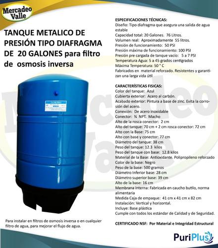 tanque de presión  20 galones ósmosis filtro de agua