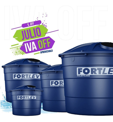 tanque depósito para agua potable fortlev gianni 3000 litros