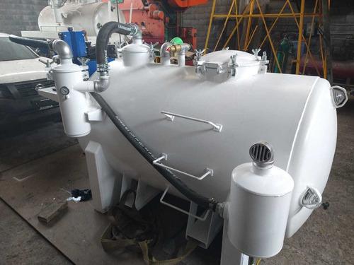tanque desazolve, septico de presion y vacío cap. 2500 lts