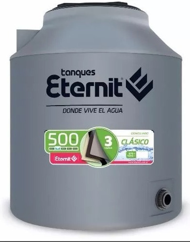 tanque eternit tricapa 850 l + base reforzada envio en 24hs!