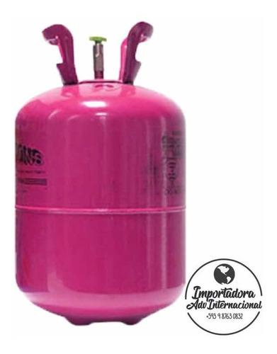 tanque helio descartable para fiesta en casa con 15 globos