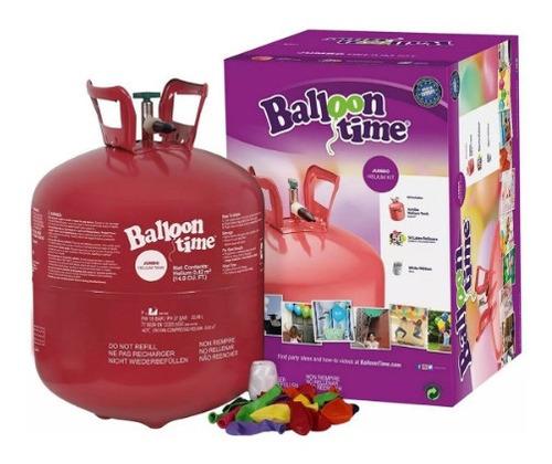 tanque heliogas para inflar bombas + 50 globos fiestas