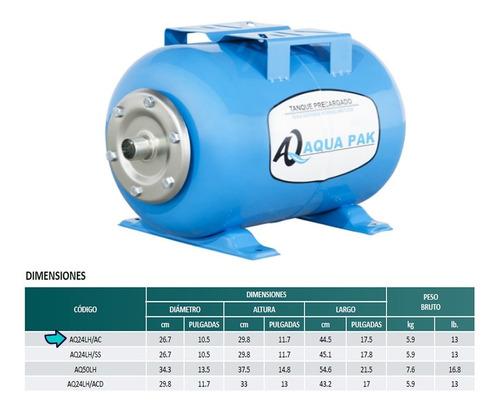 tanque hidroneumatico aqua pak membrana intercambiable 24lts