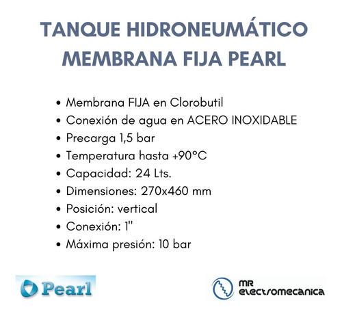 tanque hidroneumatico pearl 24 litros - conexión 1