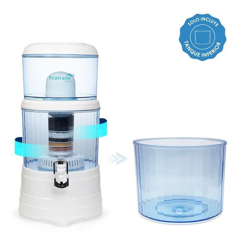 tanque inferior para filtro purificador agua ecotrade 14 lt