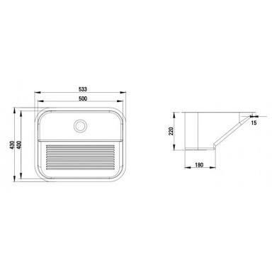 tanque inox (50x40cm) sobrepor com frete e válvula grátis!!!