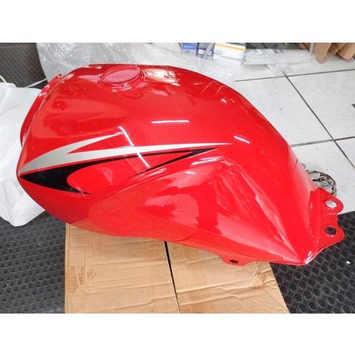 tanque original moto suzuki yes 125 pintado vermelho