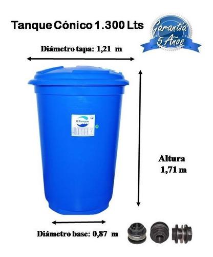 tanque para agua de 1300 litros