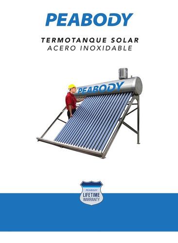 tanque peabody de asistencia prellenado de termotanque solar