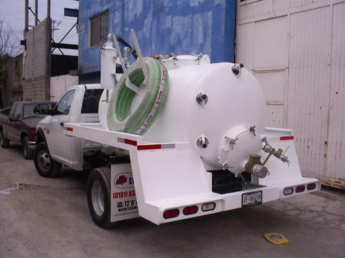 tanque pipa tipo vactor, desazolve, septico, presion y vacio
