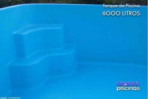 tanque piscina 6.000 casco 3,46 x 2,44 x 0,92 + bocais