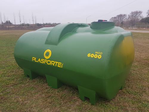 tanque plástico. acoplado tanque mod.6000 plasforte srl