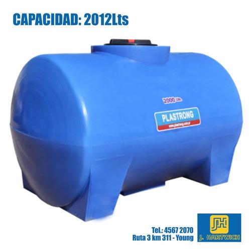 tanque plástico cilíndrico horizontal bases 2012l plastrong