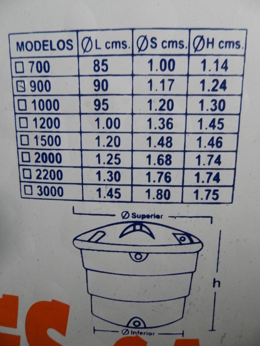 tanque plastico para agua 900 litros con su tapa nuevo