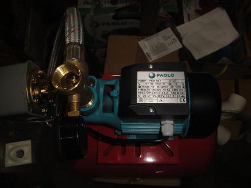 tanque  presion con bleris de 24lt horizontal con bomba 1/2