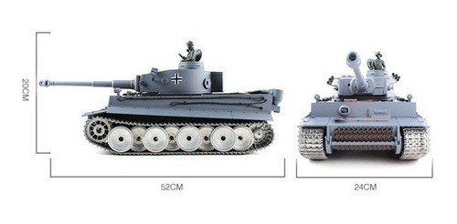 tanque rc henglong tiger i profesional 2.4ghz humo y airsoft