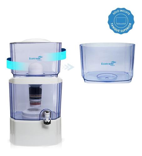 tanque superior para filtro purificador agua ecotrade 24 lt.