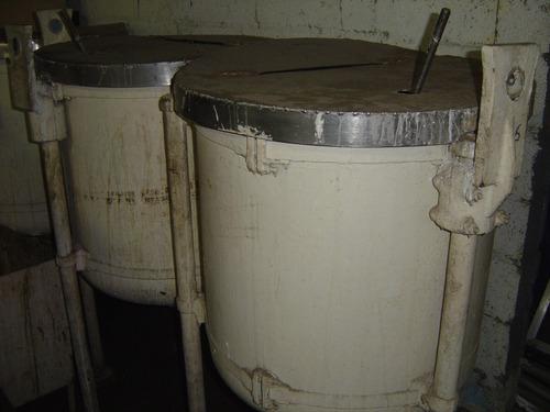 tanque / tacho misturador batedor de inox 230 litros + motor