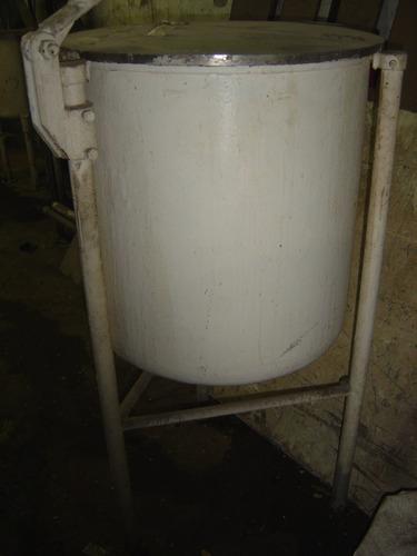 tanque / tacho misturador batedor de inox 250 litros + motor
