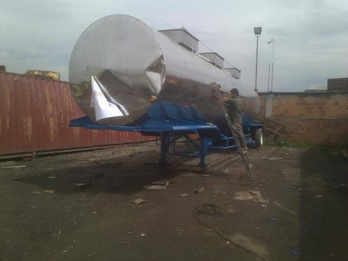 tanque trailer inoxidable