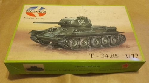 tanque tv- 34 - 85 a esc 1/72 cooperativa