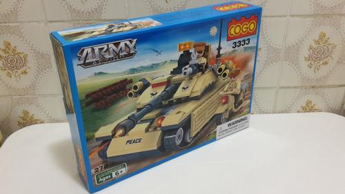 tanque y moto de guerra - lego alternativo cogo- army action