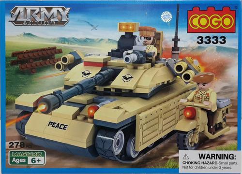 tanque y moto de guerra - lego alterno cogo - army action