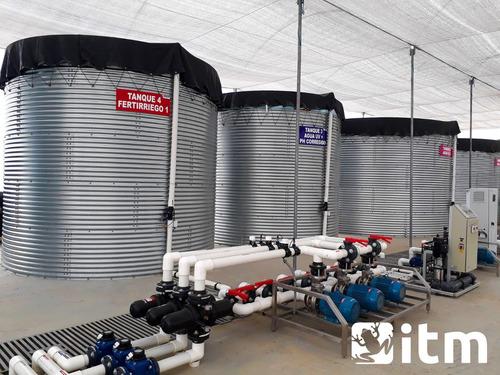 tanques de agua tipo australiano en geomembrana