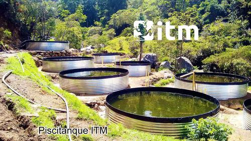 tanques de geomembrana piscicola o acuicola tipo australiano
