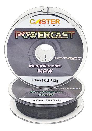 tanza monofilamento nylon caster 0.26mm 5,23kg 1000m negro