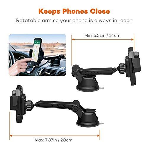 taotronics car phone mount con una cómoda operación de una