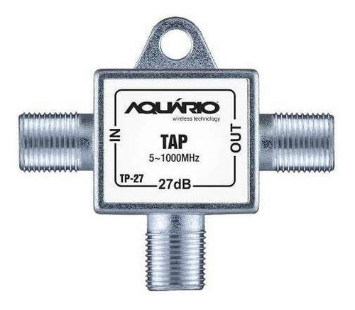 tap (tomada blindada) 27db, 5-1000mhz