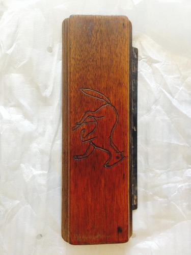 tapa artesanal consola madera para ford mustang