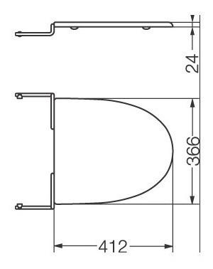 tapa asiento bidet ferrum marina herraje metálico 3 agujeros