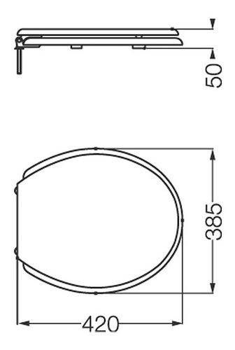 tapa asiento plasticos p/inodoro ferrum traful andina blanco