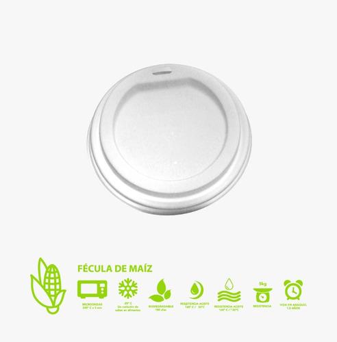 tapa biodegradable 12, 16, 20 onzas con 1000 piezas