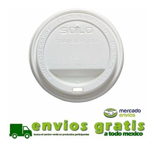 tapa blanca para vaso de café 12, 16 y 20 oz c/1000 piezas