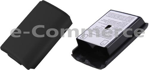 tapa blanco negr porta pila bateria control palanca xbox 360