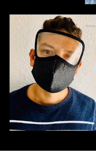 tapa boca con visor