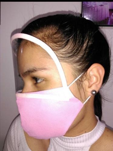 tapa bocas antifluidos 2 en 1 lavables con visor ¿¿
