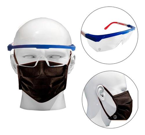 tapa bocas, guantes y gafas, kit protección completa reutili