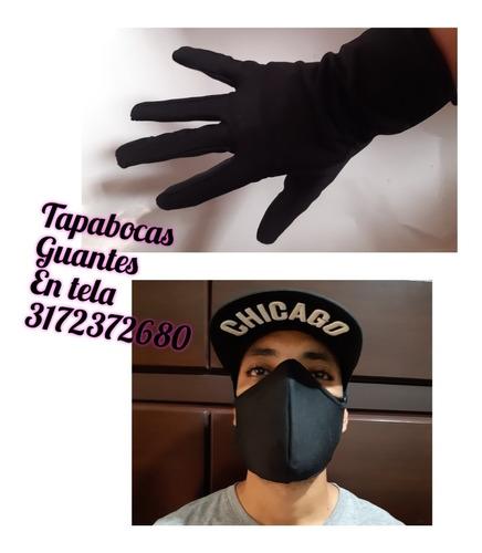 tapa bocas y guantes en tela