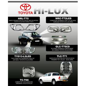 Tapa Carelos Cromados Con Luz Azul  Toyota Hi-lux (par)